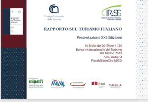 presentazione del XXII rapporto sul turismo italiano